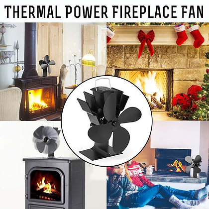 Fireplace 4/5 Blades Heat Powered Stove Fan