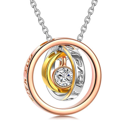 Triple rolling Necklace - I will always Love you MUM