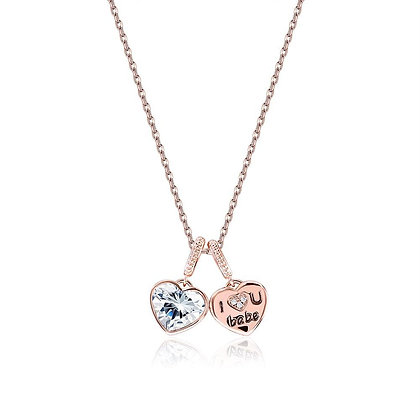 I Love you Babe Necklace in 18K Rose Gold Plated