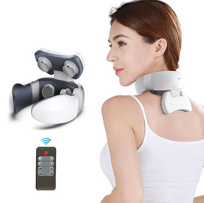 Magnetic Pulse Vibration Neck Massager Massage Remote Control