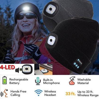 Bluetooth LED Wireless Smart Headset Headphone Cap