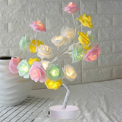 Rose Flower Tree LED Lamp