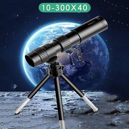 4k 10 300x40mm Super Telephoto Zoom Monocular Telescope With Tripod &