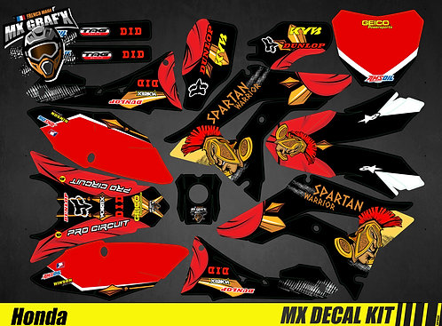 Kit Déco Moto pour / Mx Decal Kit for Honda CR/CRF - Spartan_Warrior
