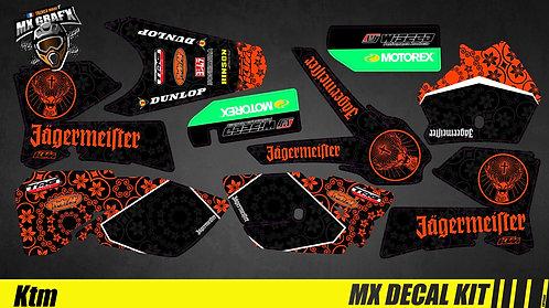 Kit Déco Moto pour / Mx Decal Kit for KTM - Jager