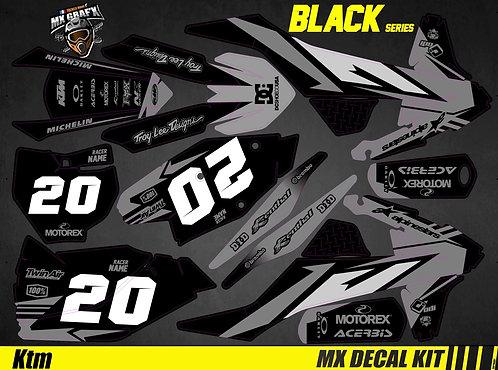 Kit Déco Moto pour / Mx Decal Kit for KTM - Black_Series