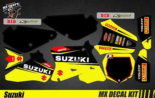 Kit Déco Moto pour / Mx Decal Kit for Suzuki - Yellow