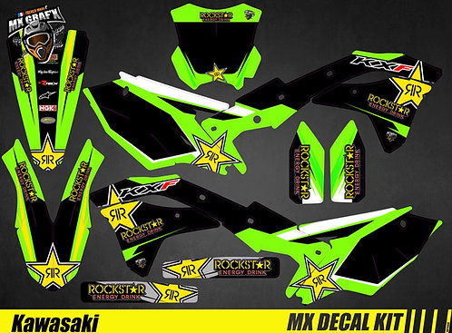 Kit Déco Moto pour / Mx Decal Kit for Kawasaki - Rockstar