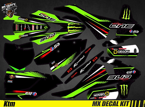 Kit Déco Moto pour / Mx Decal Kit for KTM - Monster_Bud