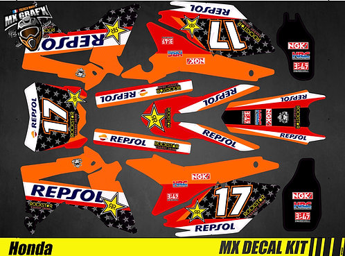 Kit Déco Moto pour / Mx Decal Kit for Honda CR/CRF - Repsol