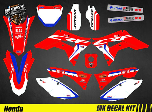 Kit Déco Moto pour / Mx Decal Kit for Honda CR/CRF - Replica_2017