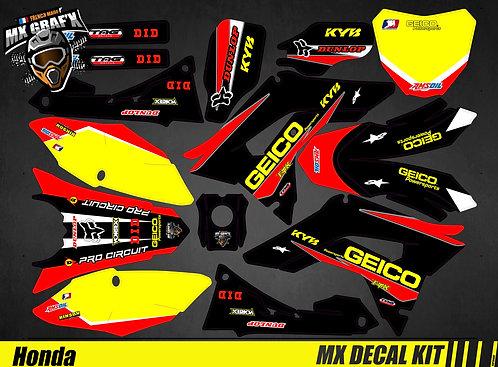 Kit Déco Moto pour / Mx Decal Kit for Honda CR/CRF - Geico