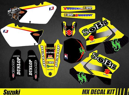 Kit Déco Moto pour / Mx Decal Kit for Suzuki - Sobe