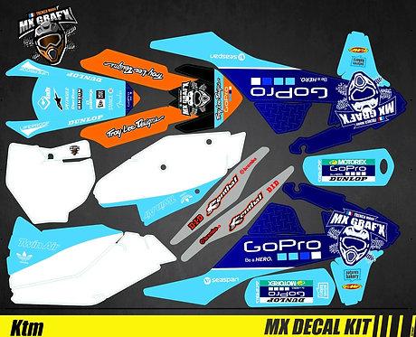 Kit Déco Moto pour / Mx Decal Kit for KTM - GoPro_Blue_Edition_Mx