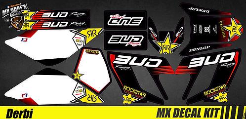 Kit Déco Moto pour / Mx Decal Kit for Derbi - Bud R