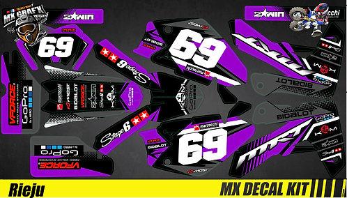 Kit Déco Moto pour / Mx Decal Kit for Rieju - Purple Race