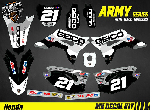 Kit Déco Moto pour / Mx Decal Kit for Honda CR/CRF - Geico_Camo_2019