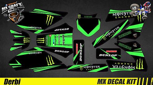 Déco Moto pour / Mx Decal Kit for Derbi - Monster
