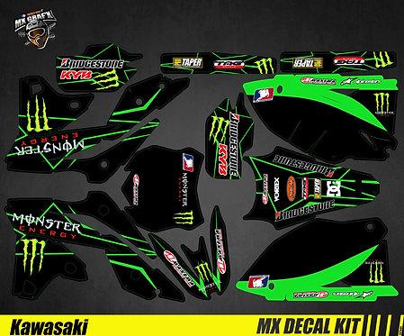 Kit Déco Moto pour / Mx Decal Kit for Kawasaki - Monster_3