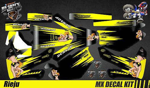 Kit Déco Moto pour / Mx Decal Kit for Rieju - Sexy Jaune