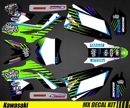 Kit Déco Moto pour / Mx Decal Kit for Kawasaki - Deft_Family