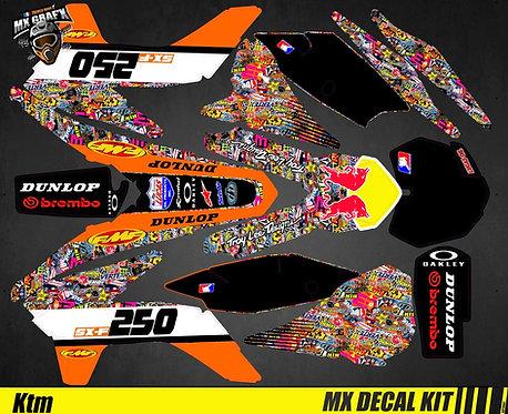 Kit Déco Moto pour / Mx Decal Kit for KTM - BombStick