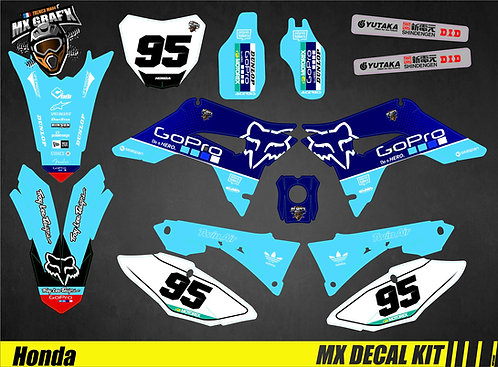 Kit Déco Moto pour / Mx Decal Kit for Honda CR/CRF - GoPro_Blue_Edition_Fox