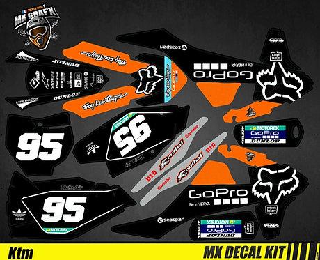 Kit Déco Moto pour / Mx Decal Kit for KTM - GoPro_Black_Edition_Fox