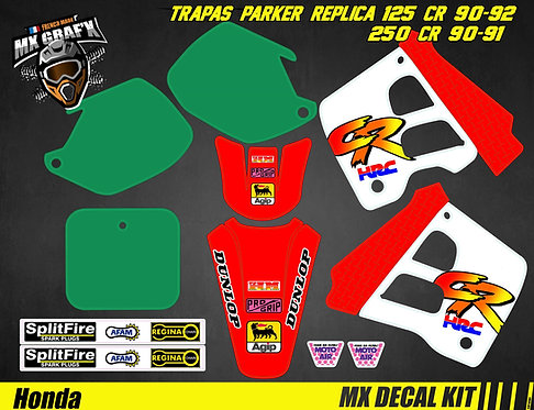 Kit Déco Moto pour / Mx Decal Kit for HONDA CR - TRAPAS PARKER