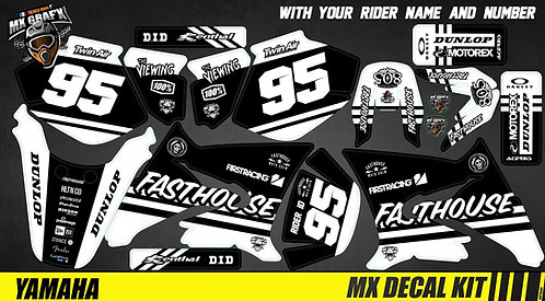 Kit Déco Moto pour / Mx Decal Kit for Yamaha DT 50 - GoPro_Fasthouse