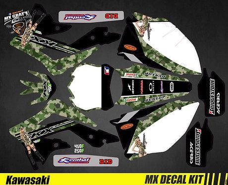 Kit Déco Moto pour / Mx Decal Kit for Kawasaki - Sexy_Camo