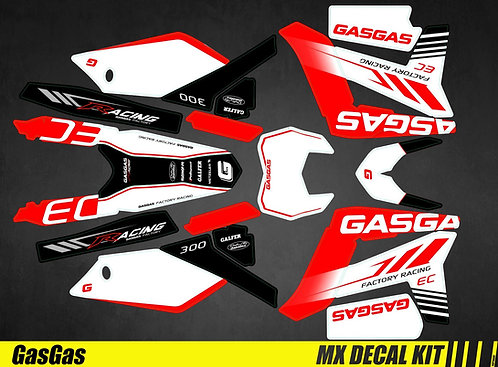 Kit Déco Moto pour / Mx Decal Kit for Gas Gas - Factory_Racing
