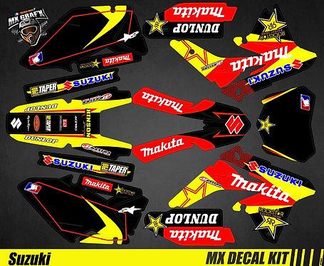 Kit Déco Moto pour / Mx Decal Kit for Suzuki - Makita