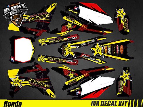 Kit Déco Moto pour / Mx Decal Kit for Honda CR/CRF - Rockstar_2