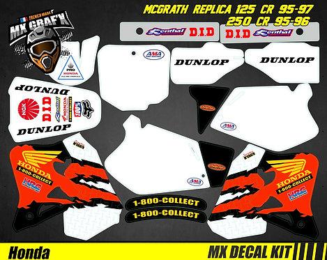 Kit Déco Moto pour / Mx Decal Kit for HONDA CR - MC GRATH
