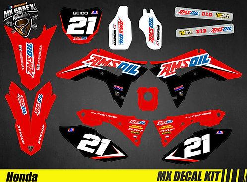 Kit Déco Moto pour / Mx Decal Kit for Honda CR/CRF - AMSOIL