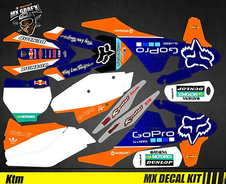Kit Déco Moto pour / Mx Decal Kit for KTM - GoPro_Fox
