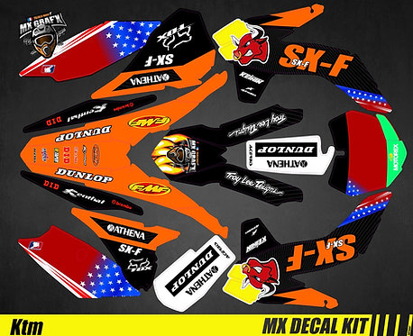 Kit Déco Moto pour / Mx Decal Kit for KTM - Red_Bull