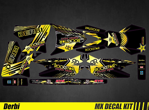 Kit Déco Moto pour / Mx Decal Kit for Derbi - Rockstar