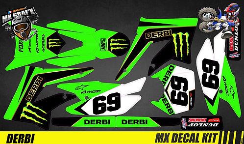 Déco Moto pour / Mx Decal Kit for Derbi - Kx Style