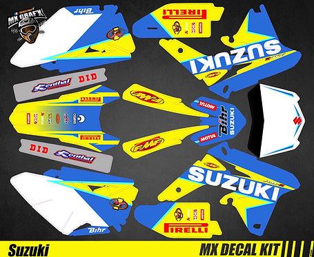 Kit Déco Moto pour / Mx Decal Kit for Suzuki - Blue