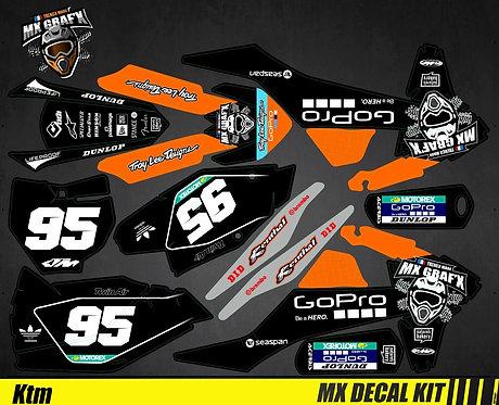Kit Déco Moto pour / Mx Decal Kit for KTM - GoPro_Black_Edition_Mx
