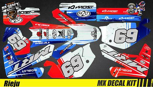 Kit Déco Moto pour / Mx Decal Kit for Rieju - France
