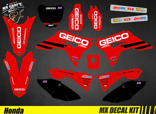 Kit Déco Moto pour / Mx Decal Kit for Honda CR/CRF - Geico_2019