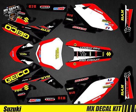 Kit Déco Moto pour / Mx Decal Kit for Suzuki - Geico
