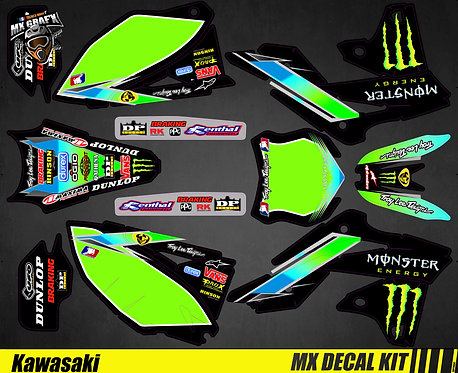 Kit Déco Moto pour / Mx Decal Kit for Kawasaki - Monster