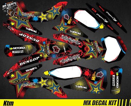 Kit Déco Moto pour / Mx Decal Kit for KTM - Rockstar_H&H