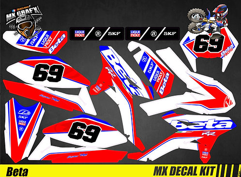 Kit Déco Moto pour / Mx Decal Kit for Beta - Racing