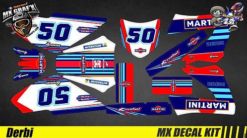Kit Déco Moto pour / Mx Decal Kit for Derbi - Martini