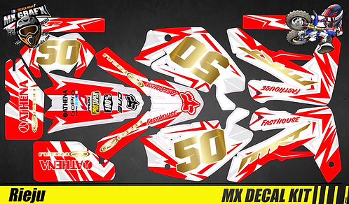 Kit Déco Moto pour / Mx Decal Kit for Rieju - Red Camo